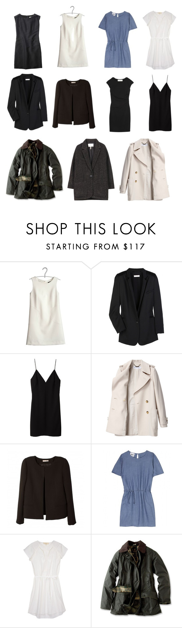 """Capsule Wardrobe--Coats, Jackets, and Dresses"" by stractstyle ❤ liked on Polyvore featuring Tara Jarmon, Chloé, Margaret Howell, T By Alexander Wang, Graham & Spencer, See by Chloé, BA&SH, Acne Studios, Vanessa Bruno Athé and Barbour"