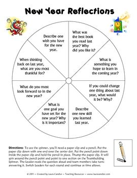New Year Reflection Teambuilding Activity - great to use when ...