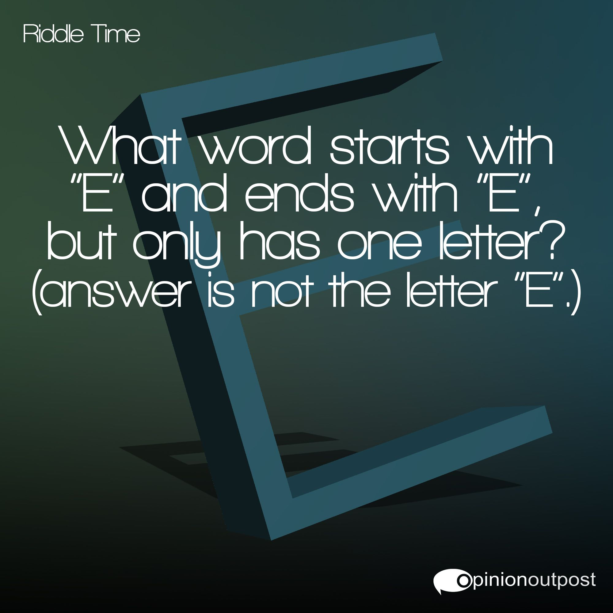 Riddle Time!Who can guess the answer to this riddle? Comment below