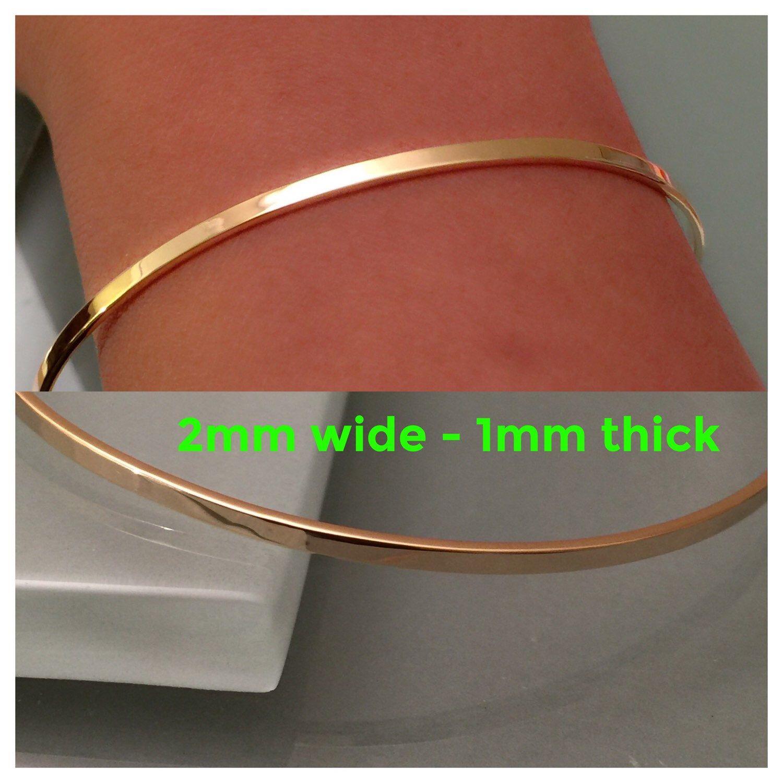 K gold bangle bracelet k bangle k cuff bangle k gold
