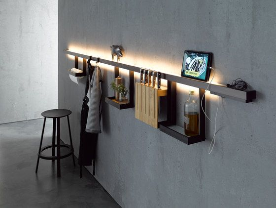 Light Rail With Glass Shelf Gera Light System 6 By Gera