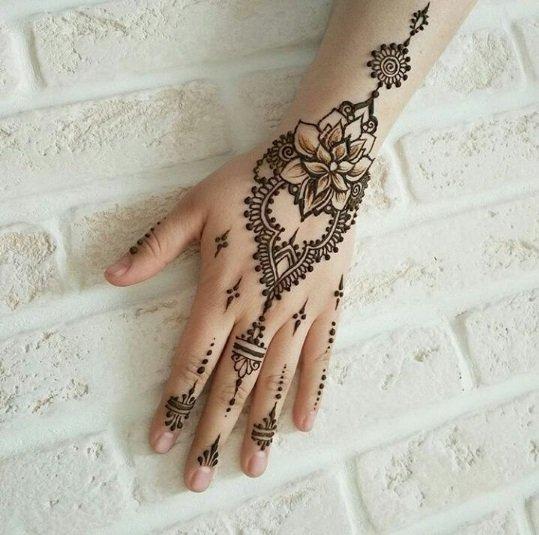 صور نقش حناء للبنات في العيد مجلة هي Hand Henna Hand Tattoos Henna