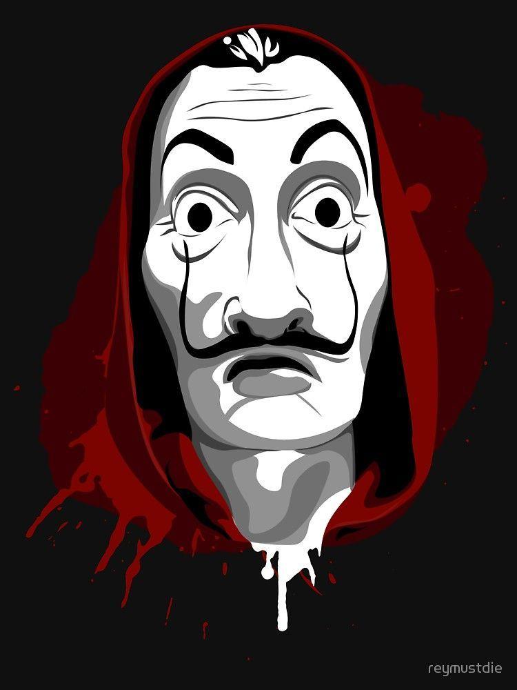 La Casa De Papel Camiseta Ajustada Full Hd 4k Graffiti Tapete Kunst Ideen Zeichnung