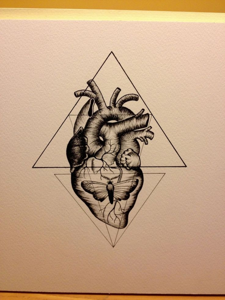 Lo Real De La Apariencia Art Tatuaje Geométrico Corazón
