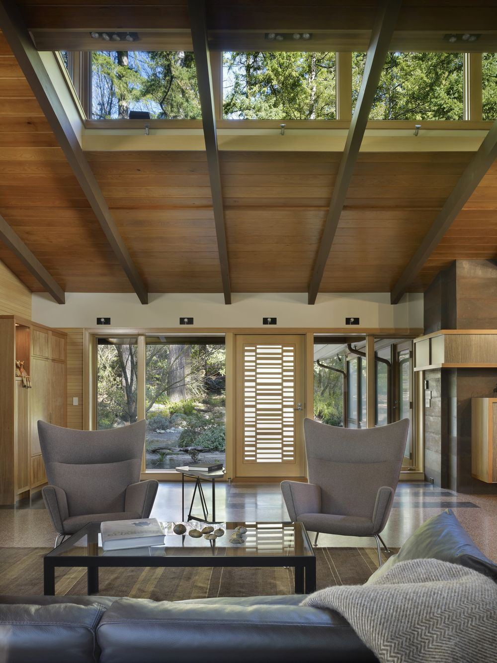 Lake Forest Park Renovation   Midcentury   Living Room   Seattle   By FINNE  Architects