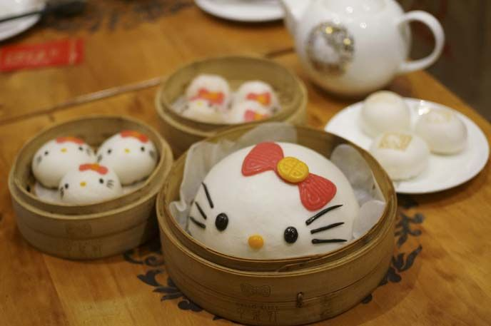 Hello Kitty Chinese Dim Sum Restaurant Hong Kong Gudetama Theme