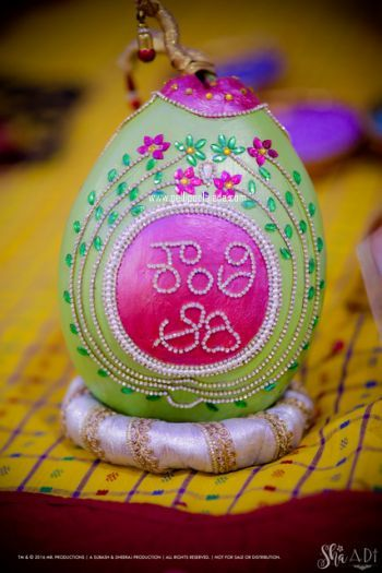 Kobbari bondam, Coconut decoration, Telugu bride, telugu