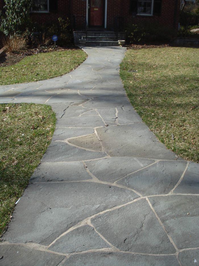 Irregular Pattern Flagstone Grey Blue Blend Patio Stones Patio Pictures Stone Patio Designs