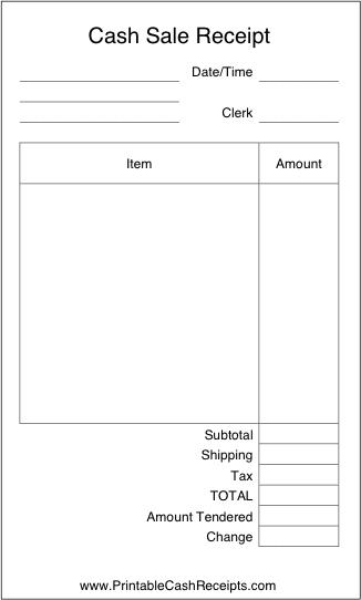 Sales Receipt Invoice Template