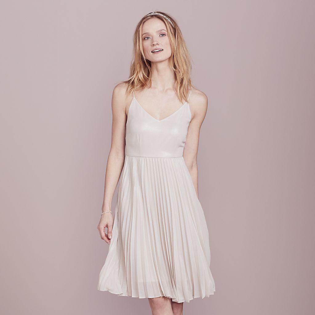 LC Lauren Conrad Dress Up Shop Collection Pleated Metallic Dress ...