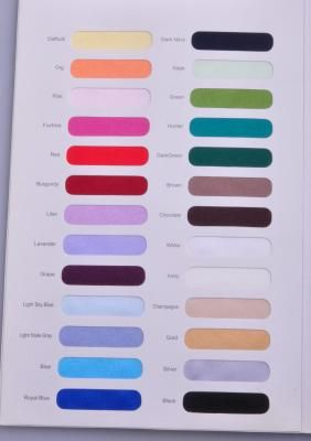 Satin & Other Material Color Samples