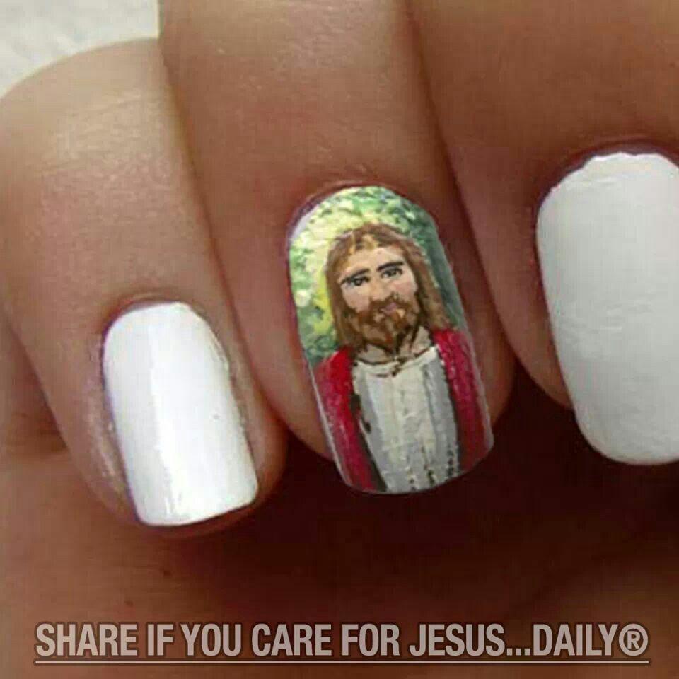 Jesus nail art   Nail designs   Pinterest