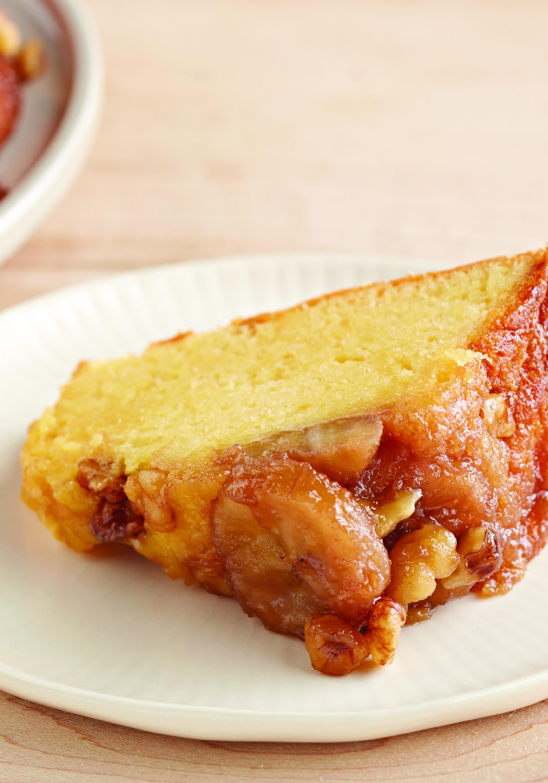 Banana Upside Down Sour Cream Walnut Cake Recipe Banana Upside Down Cake Recipes Walnut Cake