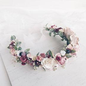 Flower crown, Blush Flower crown, flower crown wedding, bridal flower crown, flower hair piece, Bridal hair, Bridesmaids