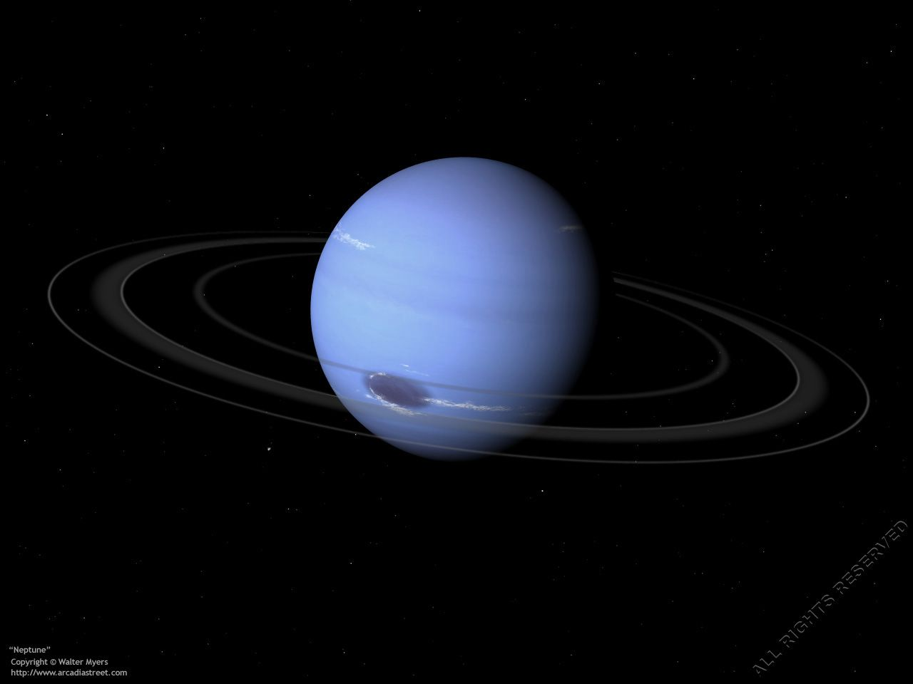 Neptune Planet | Planet Neptune and its rings; gas giant ...