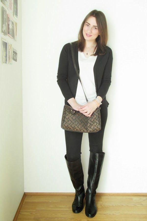 397f20472a Look de moda  Cárdigan negro
