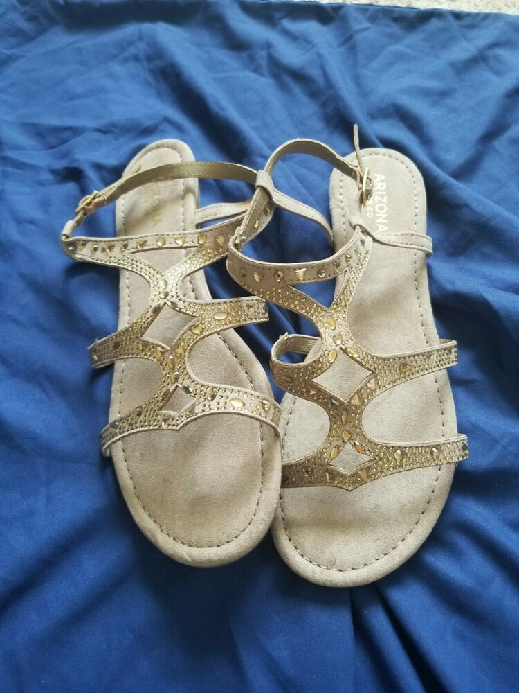 Oca-loca Leather Slingback Sandals Size 37 Uk 4 Rhinestones Strappy Buckle Clothing, Shoes & Accessories Clothing, Shoes & Accessories