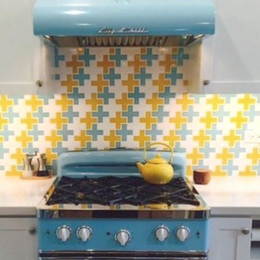 Friday Fun This cute retro kitchen features @bigchillappliances and