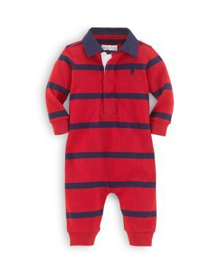 1a498264 Ralph Lauren Childrenswear Infant Boys' Rugby Stripe Coverall - Sizes  Newborn-12 Months | Bloomingdale's