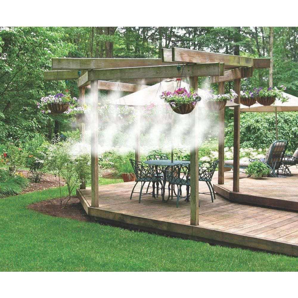 1 4 In Portable Outdoor Cooling Misting System 20066 The Home
