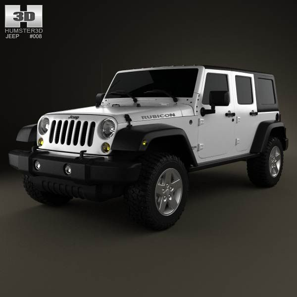 Price Of A Used Jeep Wrangler: Jeep Wrangler Unlimited 2013 3d Model From Humster3d.com