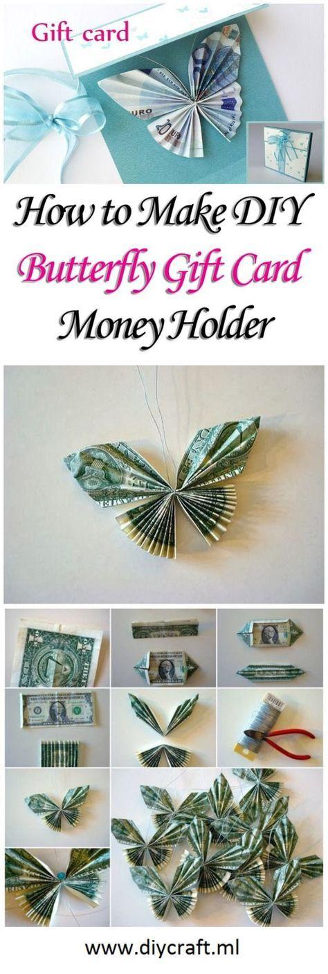 Geldgeschenk Verpacken Schmetterling Falten Geldgeschenke