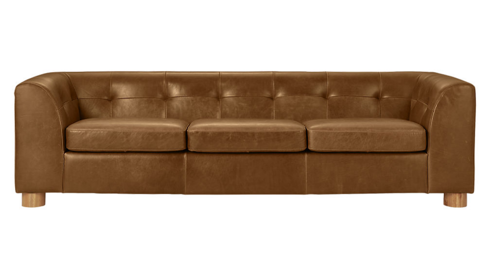 Kotka Tobacco Tufted Leather Sofa Reviews Cb2 Leather Sofa Tufted Leather Sofa Brown Leather Sofa