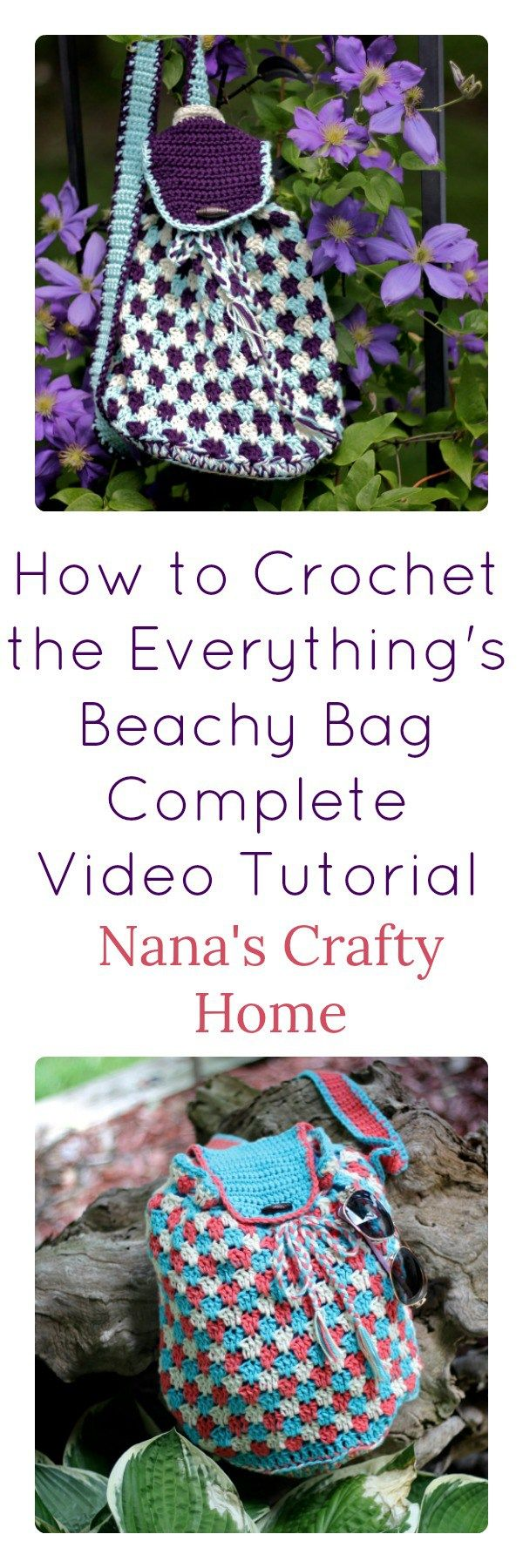 How to Crochet the Everything\'s Beachy Bag Video Tutorial a free ...