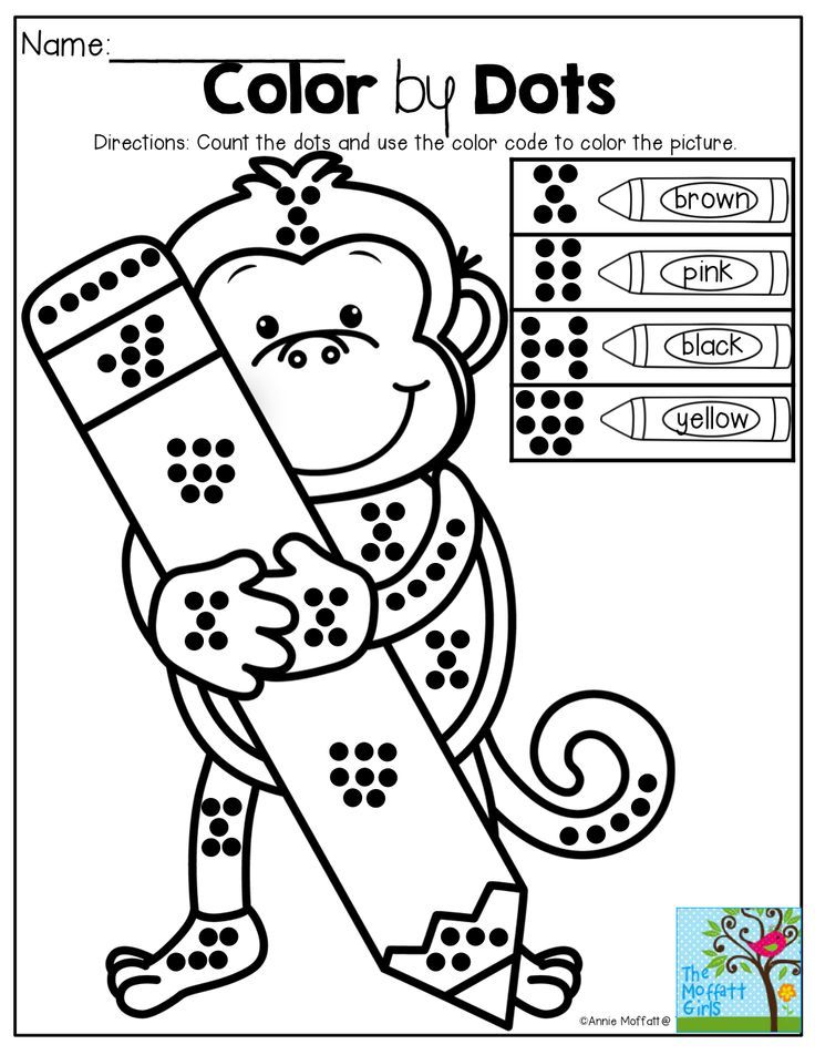 Color by Dots! Great for counting, number sense and color ...