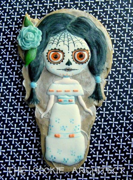 The Cookie Architect:  Dia de Los Muertos.  Mexican Catrina.  Halloween.