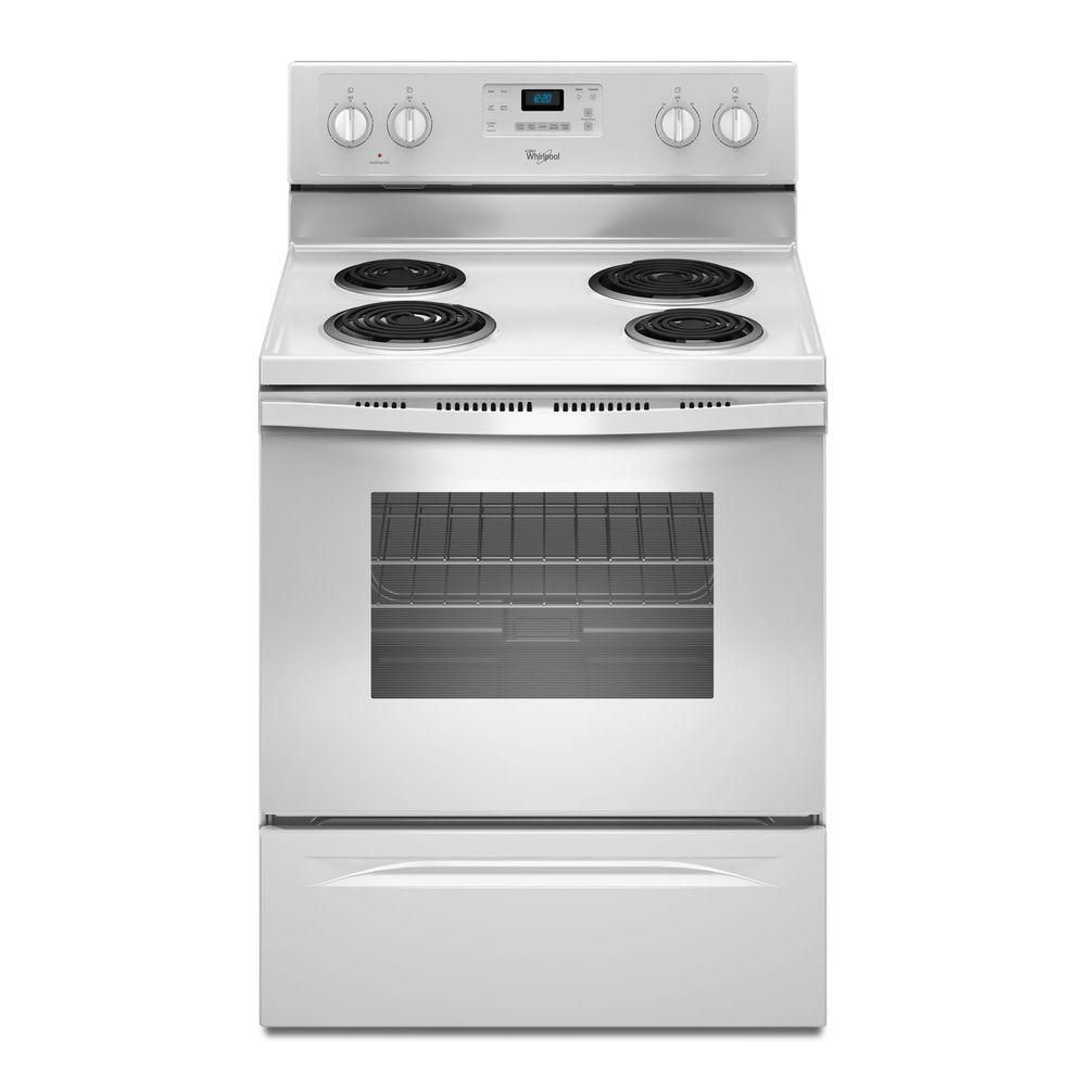 Whirlpool 30 in. 4.8 cu. ft. Electric Range with Self-Cleaning Oven in White