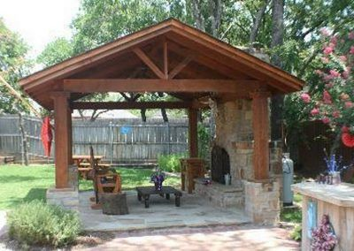 patio & terrasses en bois modele bois trex cedre toit pergola composite | Backyard patio, Patio ...
