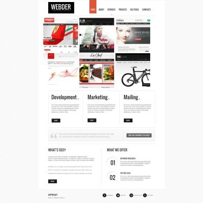 Seo Website Moto Cms Html Template 45907 Web Design Software Html Templates Templates