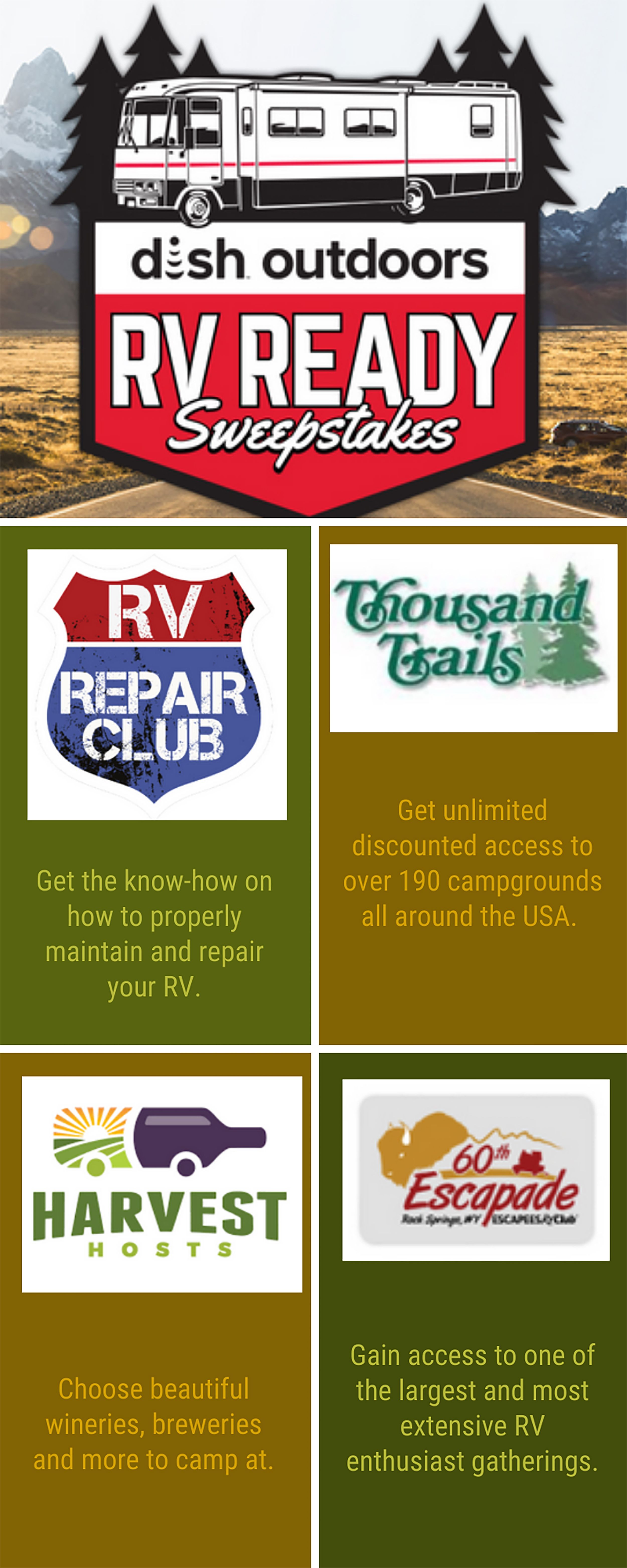 Do you know where to start looking for your next adventure? Finding the right resources and memberships can be time consuming. But, these are a great place to start. Want them for free? Enter our RV Ready Sweepstakes now! #RV #Sweepstakes #Summer #Camping #Glamping #DIY #Adventure #RVReady