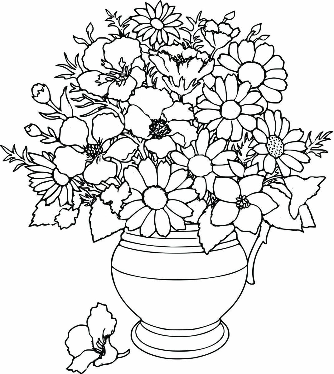 10 Coloring Page Flower Bouquet Printable Flower Coloring Pages Flower Coloring Pages Spring Coloring Pages