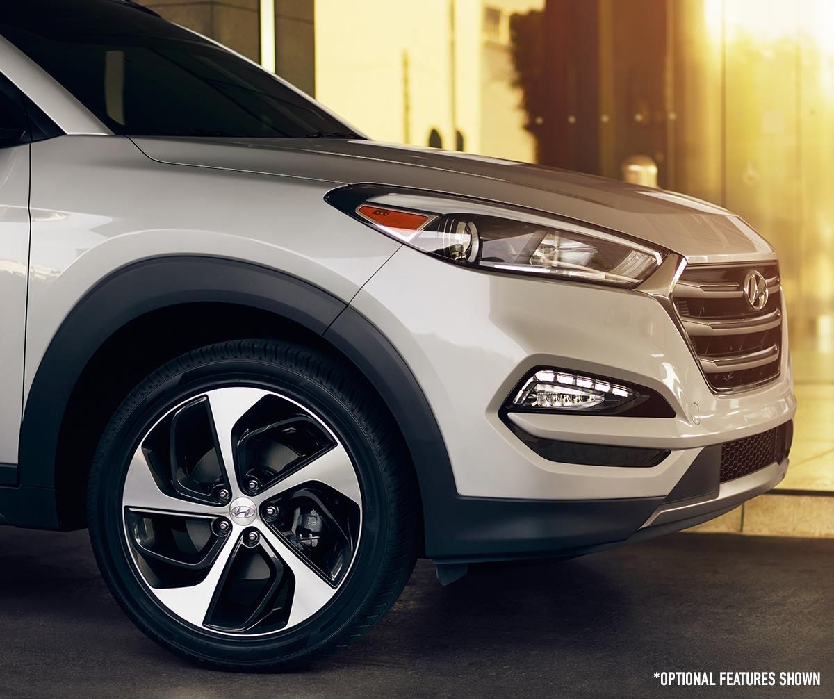 We've upgraded our new Hyundai Tucson to 19inch alloy