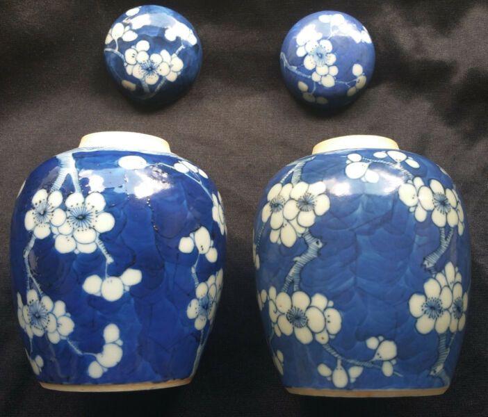 Zwei sehr schön erhaltene Deckeldosen ovoider Form