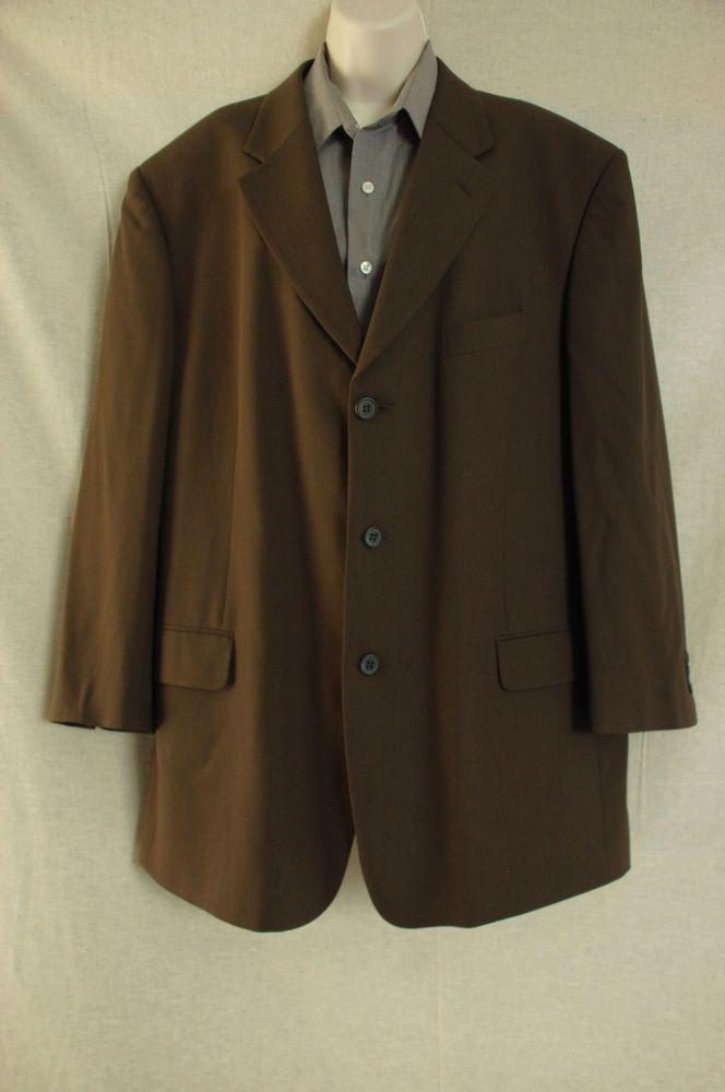 Covarra Profilo Athletic Fit 46R 100% Wool Olive Men's suit jacket ...