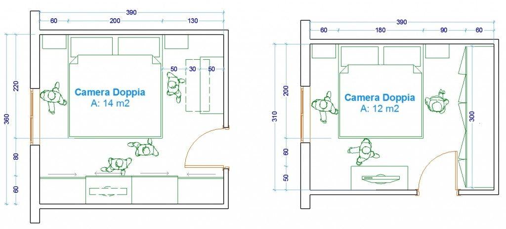 Le misure dell 39 uomo esempi camera da letto d l for Piccole planimetrie