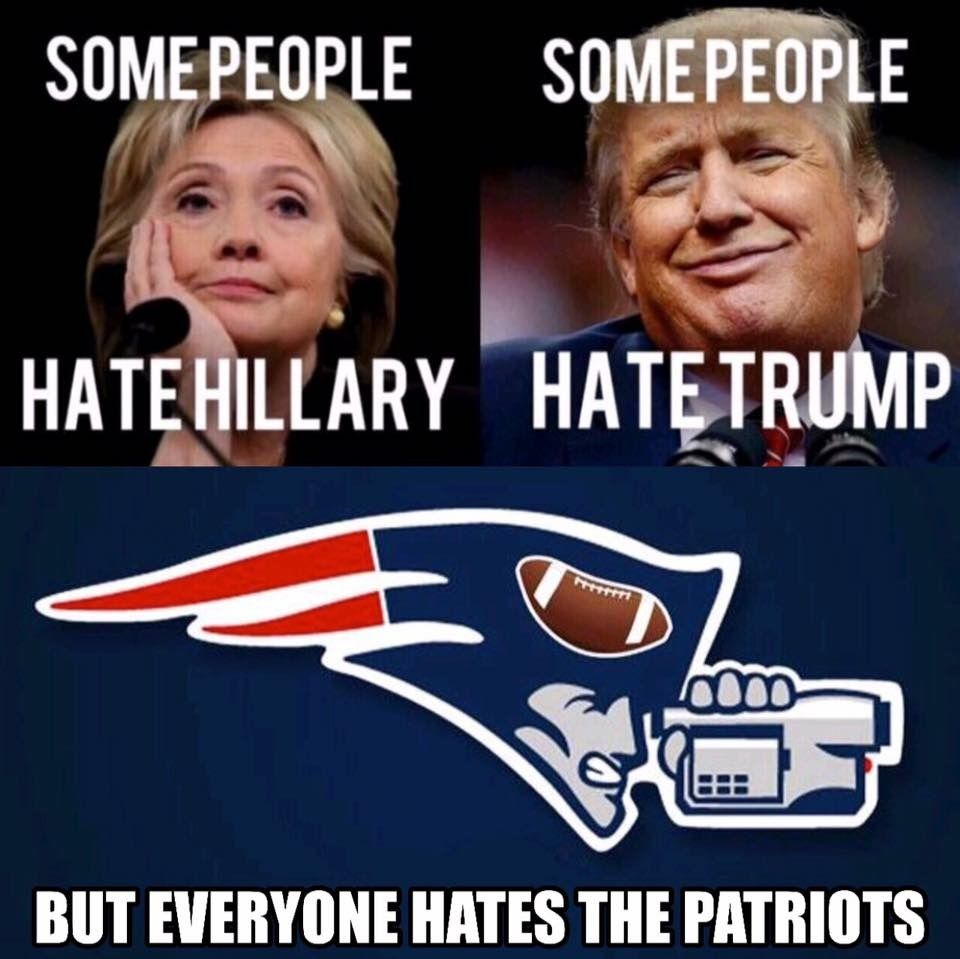 Everyone Hates The Cheatriots Nfl Memes Funny Funny Football Memes Patriots Memes
