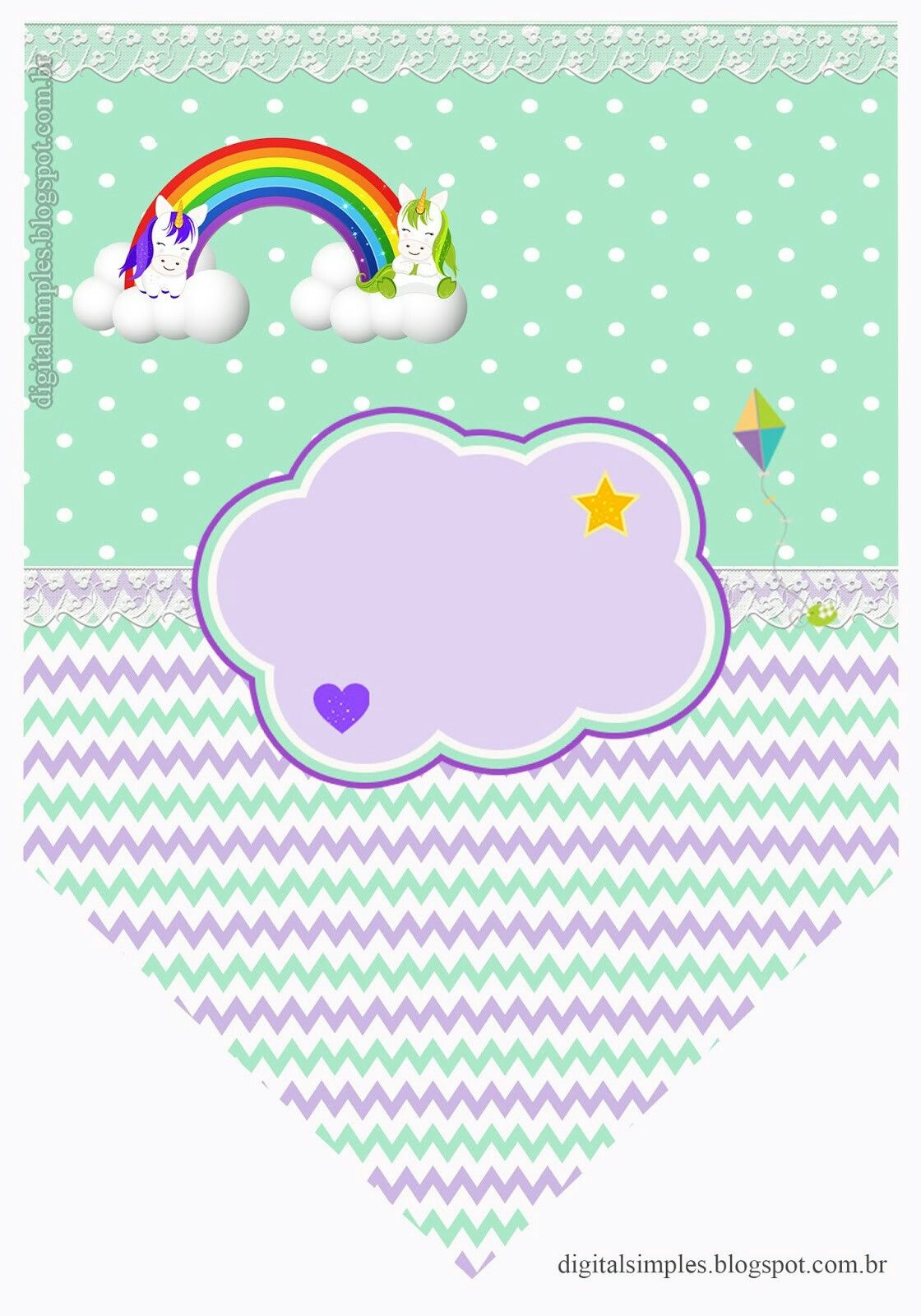 Banderin Unicornio Kit Imprimible Fiesta De Mi Pequeno Pony