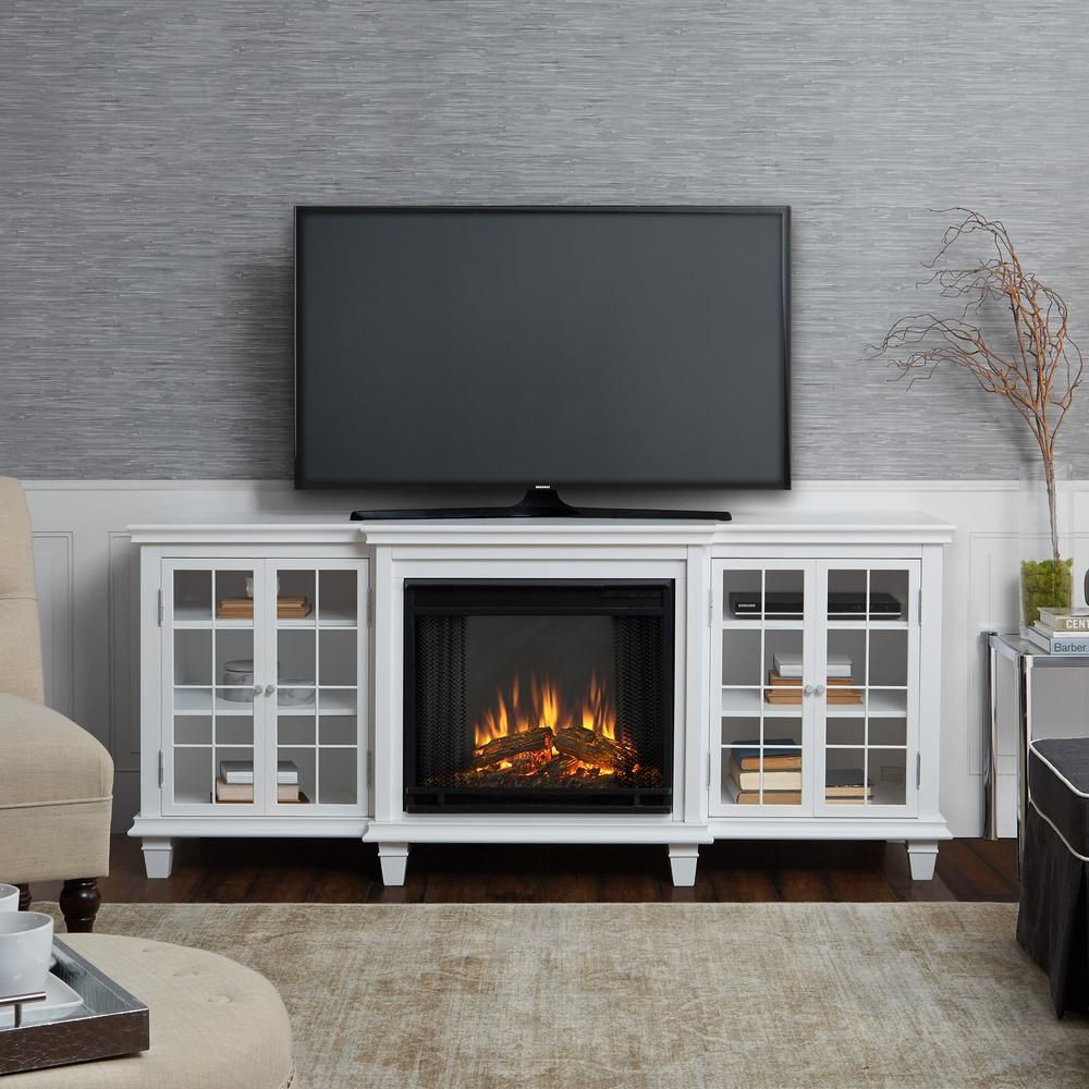 Real Flame Marlowe 70 In Freestanding Electric Fireplace Tv Stand
