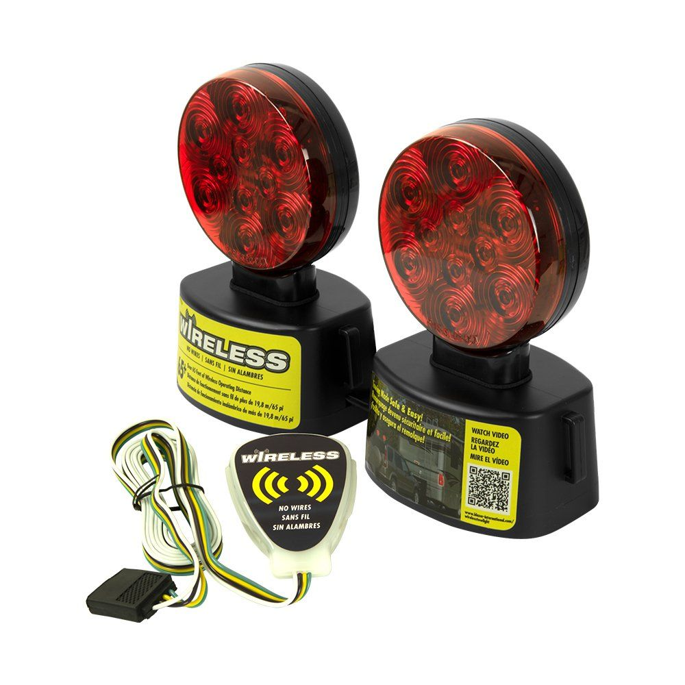 Blazer C6304 Led Round Wireless Towing Light Kit Under 80 Inches Red Price 50 31