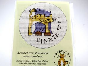 yeuk! Galleta De El Gato X Stitch Kit por mouseloft
