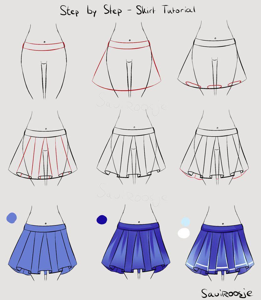 Step by step school girl skirt by saviroosje on deviantart