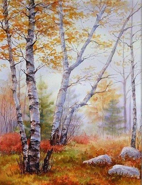 Automne Autumn Paysage Art Peinture Paysage Paysage Automnal