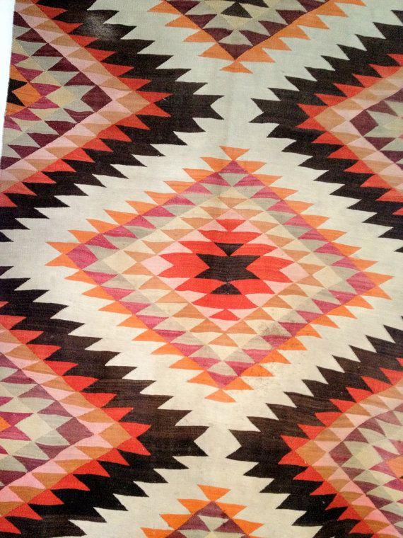 Vintage Eye Dazzler Navajo Rug Navajo Rugs Native