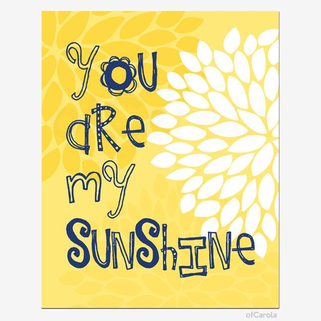 PERSONALIZED+You+Are+My+Sunhine+Quote+Print+Wall+Art+by+ofCarola,+$ ...