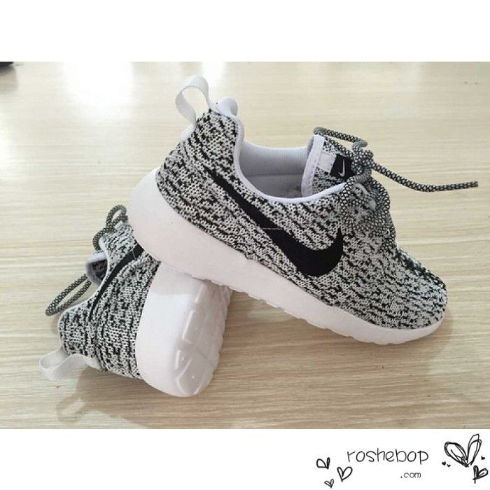 Nike Roshe One Yeezy Boost 350 Unisex Gray White Black - Nike Roshe Run