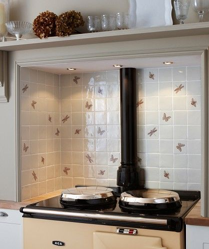 Butterfly kitchen wall tiles from Topps Tiles Kitchen Pinterest